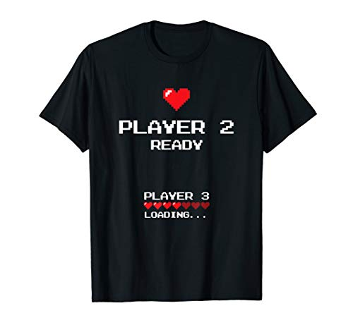Product Image of the Player 2 Player 3 Loading - Retro Gaming - Baby Announcement T-Shirt