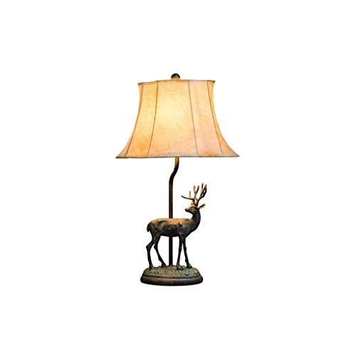 Tischlampe Licht Schreibtischlampen Lichter personalisierte kreative Lichtquelle American Country Retro Schlafzimmer Nachttisch Geweih Tischlampe Hirschkopf dekorative Lampe Nachttisch Licht Licht