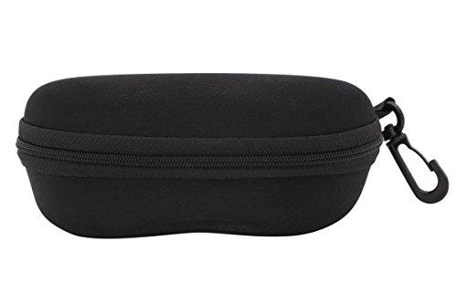 TBOC Brillenetui Hartschale für Gürtel – für Lesebrille Sonnenbrille Sportbrille Groß Modern und Leicht Design mit Haken zum Umhängen mit reißverschluss für Auto Tasche für Damen Herren und Kinder