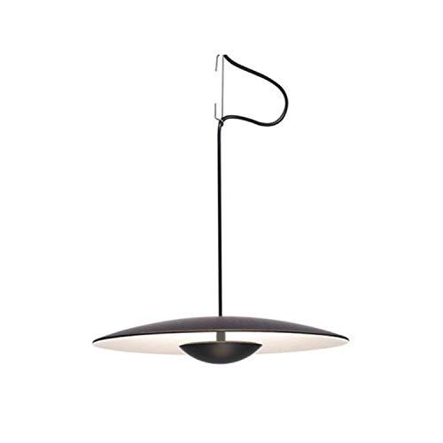 Lámpara Colgante empotrable LED 15,4W con difusor de Madera prensado con regulación por Sistema Dali, Modelo Ginger 42 RSC, Color wengé, 42 x 42 x 8,6 centímetros (Referencia: A662-053)