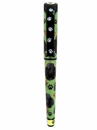 Black Poodle Pen Easy Glide Gel Pen, Refillable With A Perfect Grip, Great For Everyday Use, Perfect Black Poodle Gifts For Any Occasion by E&S Imports, Inc