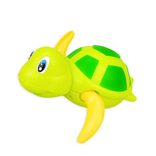 Kinderen spelen met waterspeelgoed badkamer zwemmen baby schildpad baby badkamer uurwerk speelgoed puzzel Grün · ·
