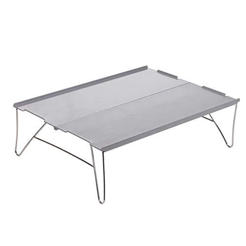 KongLyle Mesa plegable para camping, mini mesa plegable de aleación de aluminio, portátil, montañismo, camping, barbacoa, mesa de escritorio