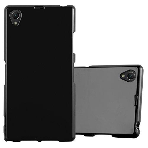 Cadorabo Funda para Sony Xperia Z1 en Jelly Negro - Cubierta Proteccíon de Silicona TPU Delgada e Flexible con Antichoque - Gel Case Cover Carcasa Ligera
