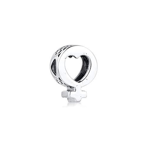 925 Sterling Silver Pandora Bracciale Gioielli Perline Femminile Simbolo Cuore Charms Originale Adatto Per Fare Fai Da Te Donne Glamour Ragazza Regalo