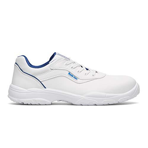 Exena - Zapatos de seguridad S2 con cordones, color blanco, color Blanco, talla 37 EU