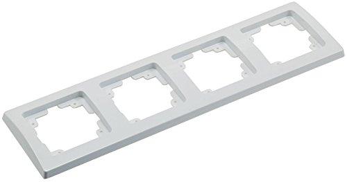 DELPHI frame wit voor serie inbouw meervoudig frame elektrische installatie geschikt voor componenten schakelaars stopcontacten knoppen netwerk dimmer USB doos
