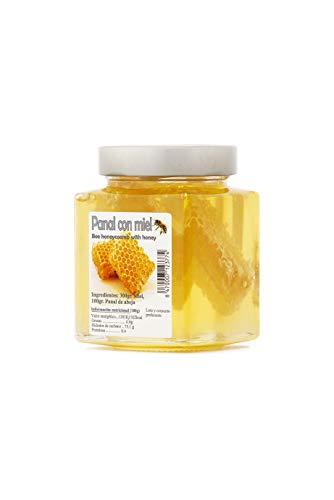 Spanischer Wabenhonig mit Bienenwabe - Bienenwabenhonig, das Geschmackserlebnis - einzigartiges Naturprodukt in Premiumqualität ohne Zusätze - 450 g, Größe:450 g