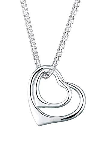 Elli Halskette Damen Herzen Verschlungen Filigran in 925 Sterling Silber