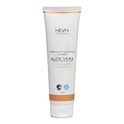 HEVI Sugaring Aloe Vera 150ml | Hautpflege nach der Haarentfernung mit Zuckerpaste oder Warmwachs | Antibakteriell | Minimiert eingewachsene Haare und rote Pickelchen | Bio-zertifiziert
