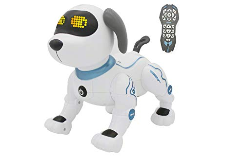 RC TECNIC Perro Robot para Niños Bruno Robot Programable Interactivo ¡Muy Divertido! Robot Teledirgido con Mando Control Remoto Juguetes