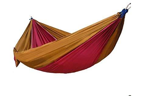 Camping hangmat Camping hangmat Single Camp Hangmat met Boom Touw en 4 Carabiners Portable Lichtgewicht nylon for Backyard (Color : Brown, Size : 230 * 80cm)