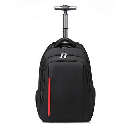HLDC Multifunktions-Trolley-Rucksack Schülerschultasche, Hochleistungs-Polyester-Rucksack mit Rollen Reiserucksack auf Rädern, passend für 15,6-Zoll-Laptop-College-Tagesrucksack auf Rädern