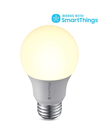 SAMSUNG SmartThings Smart LED Light Bulb for Connected Home | Energy Efficient, Dimmable | Hub Required, Voice Control Compatible with Alexa, Google, or Bixby | Warm White (8ZA-A806ST-Q4R)