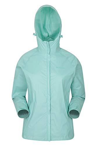 Mountain Warehouse Torrent Jacke für Damen - Wasserfeste Regenjacke, Leichter Mantel, versiegelte Nähte, Damenjacke mit Taschen - Ideal für Reisen, Camping, Frühling Minze 46