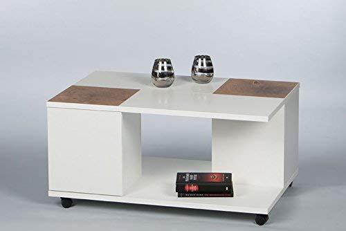 Couchtisch Spalt Two 16732 Wohnzimmertisch Tisch WeiÃ/Hirnholz