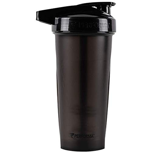 Performa ACTIV (Black) 28oz Shaker Bottle, Best Leak Free Bottle with ActionRod Mixing Technology for Your Sports & Fitness Needs! Shatter Proof and Dishwasher Safe!