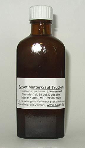 Asvet 100ml Mutterkraut Tropfen, Tinktur, Extrakt, Konzentrat