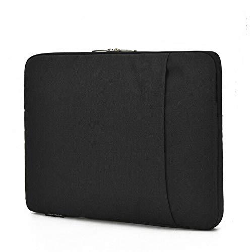 Dot. Laptop Tasche Kompatibel mit Aorus X5 v7 & Jede Andere 15-15.6 Zoll Notebook MacBook Chromebook Schutz Vertikal Weich Trage Schutzhülle - Schwarz