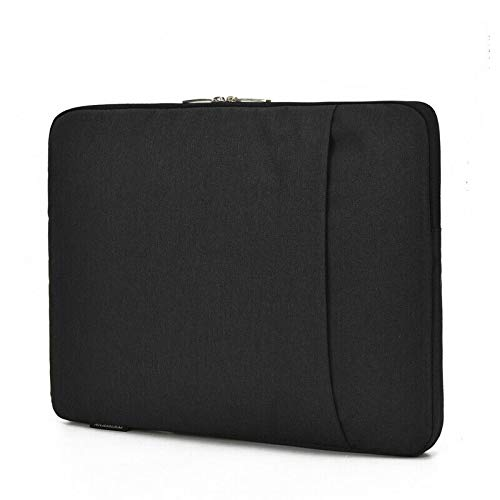 DOT. Laptop Sleeve Compatible with AORUS X5 v7 15.6' and Any Other 15.5-16 inch Notebook MacBook Chromebook Protective Vertical Soft Carrying Case Cover - Black