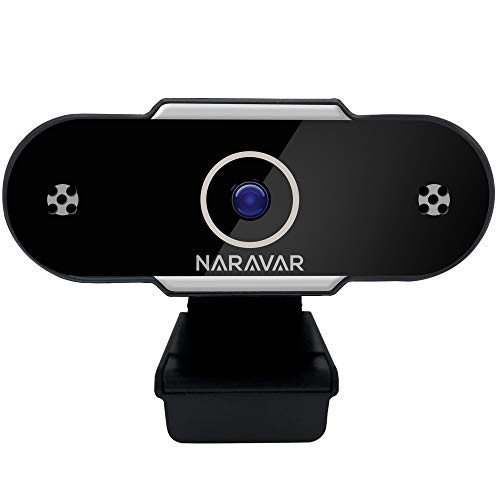 NARAVAR Webcam with Microphone | Web Cam Computer Camera Webcams for Streaming | Cameras Computers 1080p Privacy Cover USB Pc Laptop HD Gaming Audio Video Accessories | Desktop Monitor Stream and Zoom