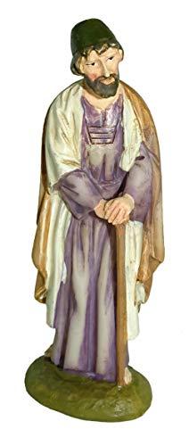 Statuine presepe: San Giuseppe linea Martino Landi per presepio da cm 10
