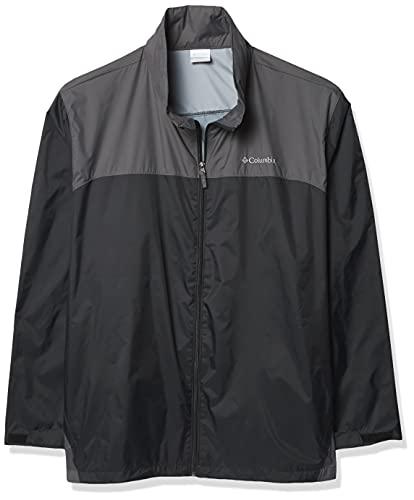 Columbia Men's Glennaker Lake Front-Zip Jacket, Black/Grill, X-Large