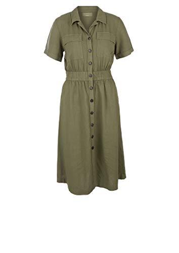 s.Oliver Damen lang Hemdkleid Kleid, 7810 Khaki/Oliv, M