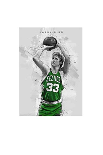 Larry Bird Notebook: Planner, Diary, Journal, Matte Finish Cover, Lined College Ruled Paper, 6x9 120 Pages