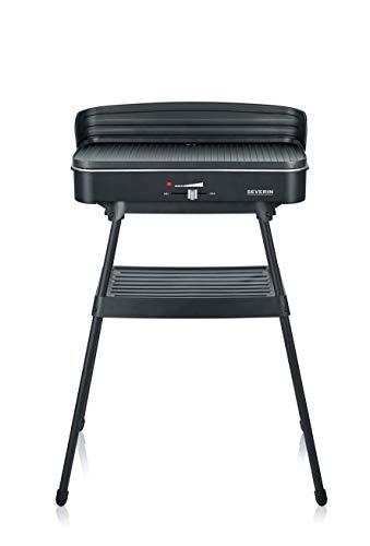 Severin PG 8533 - Barbacoa de pie, 2500 W, 49.5 x 24 cm, color negro