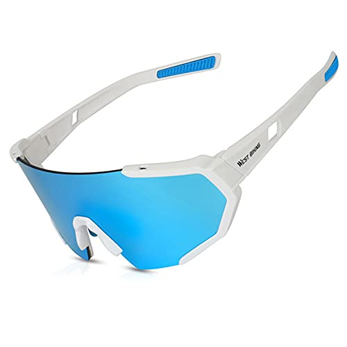 Gafas de equitación polarizadas para ciclismo y deportes para hombres y mujeres, gafas de sol de ciclismo con lentes intercambiables para conducción de ciclismo