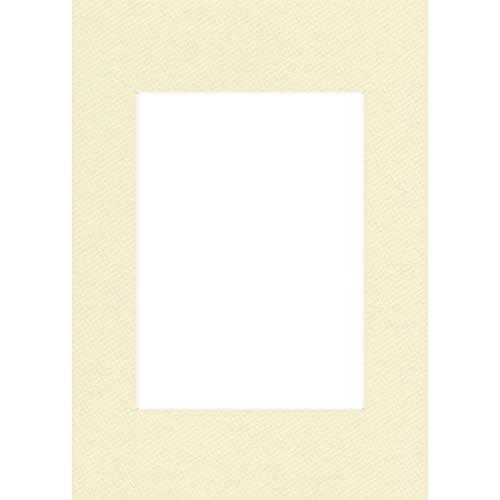 Hama Premium Passepartout 30 x 40 cm (geeignet für Bilder im Format 20 x 27) elfenbein
