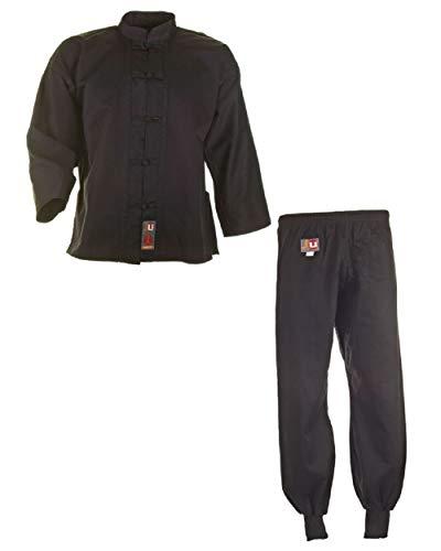 Ju-Sports Kung Fu Anzug, Tai Chi, WU SHU NEU schwarz Baumwolle, 9501, Gr. 140