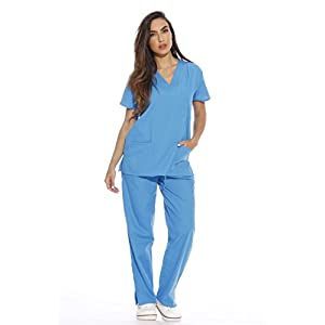 22254V-XS Malibu Blue Just Love Women's Scrub Sets / Medical Scrubs / Nursing Scrubs