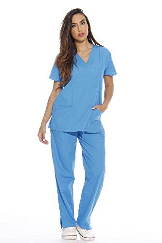 22254V-M Malibu Blue Just Love Women's Scrub Sets / Medical Scrubs / Nursing Scrubs