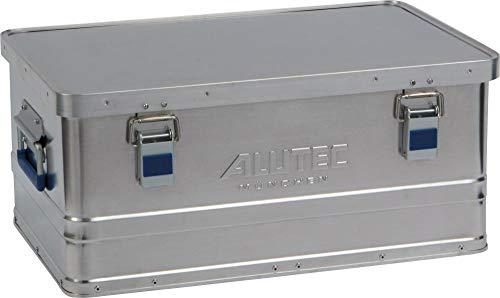 Alutec Transportkiste Basic 40 - Aluminium Box 40 Liter mit Deckel verschließbar