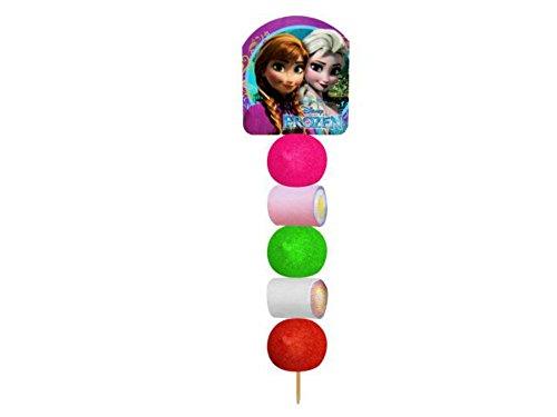 Lote de 30 Brochetas de Golosinas Cartón'Frozen' Juguetes y Regalos Baratos para Fiestas de Cumpleaños, Bodas, Bautizos, Comuniones y Eventos.