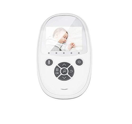 JXXZYH Kabelloser digitaler Babyphone, Zweiwege-Babypflegegerät, 360-Grad-Audio-Video-Nachtsicht-Temperaturüberwachung und Gegensprechanlage (2,4 Zoll)