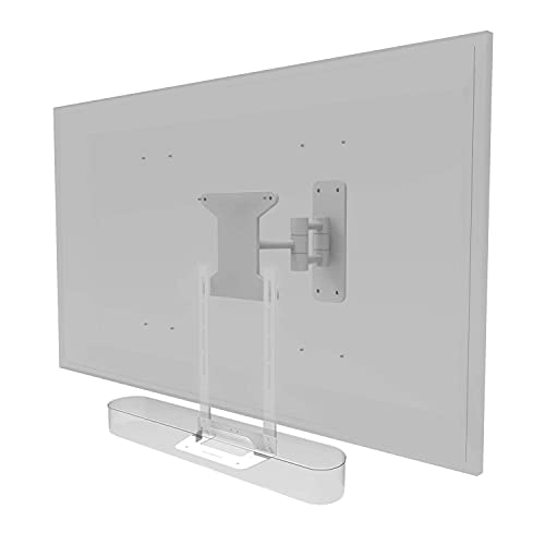 Soporte de montaje de TV para TV Kit completo de hardware incluido Barra de sonido diseñada en el Reino Unido (color: blanco)