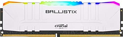 Crucial Ballistix BL2K8G36C16U4WL RGB, 3600 MHz, DDR4, DRAM, 1.35V, Memoria Gaming Kit per Computer Fissi, 16GB (8GBx2), CL16, Bianco