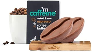 mCaffeine Naked & Raw Espresso Coffee Bathing Bar Soap (Pack Of 2) | Deep Cleansing | Pure Coffee Oil, Vitamin E | Ph 5.5,...