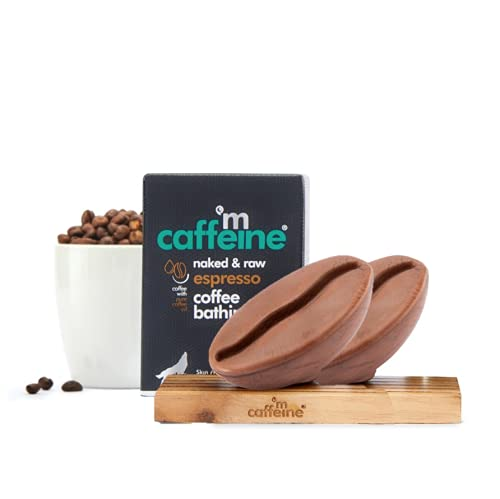 Neema Recommends : mCaffeine Naked & Raw Espresso Coffee Bathing Bar Soap   Deep Cleansing   Pure Coffee Oil, Vitamin E   Ph 5.5, Skin Friendly