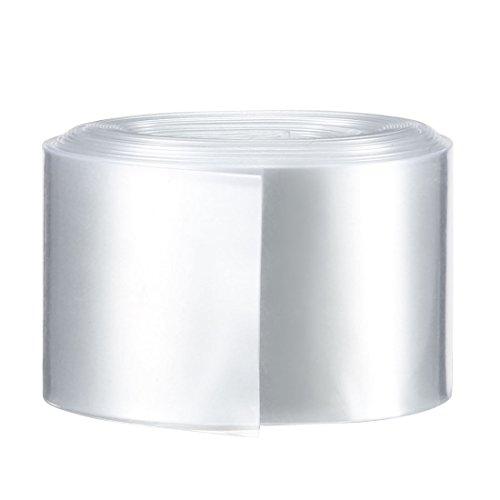Sourcingmap PVC-Schrumpfschlauch, 29,5 mm, für 1 x 18650, 29.5mm-16.4 Ft, farblos