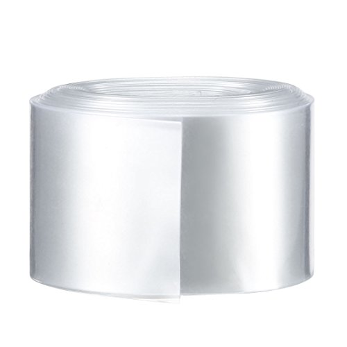 Sourcingmap PVC Schrumpfschlauch Tube 29,5mm Akku Wrap für 1x 18650Batterie Schrumpffolie 5m transparent