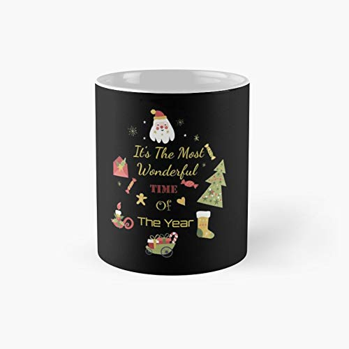 Christmasit's The Most Wonderful Time of Yearmerry Christmas Matching Family Pajamaschirstmas Long Sleevecute Christmas Gift Classic Mug   Best Gift Funny Coffee Mugs 11 Oz