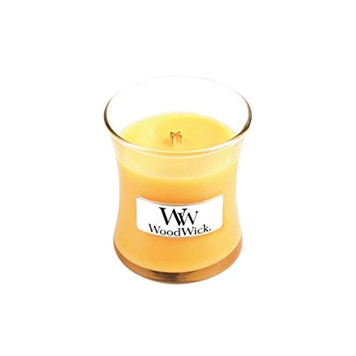 Woodwick Seaside Mimosa Mini Jar, Yellow, 10 x 7 x 10 cm