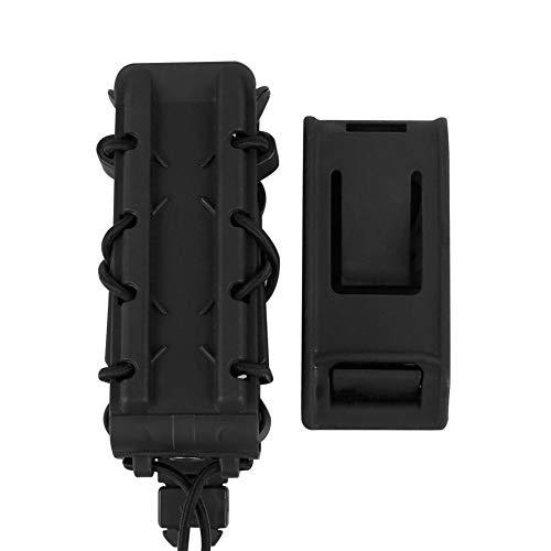DETECH Pochette Tactique Fastmag Pochettes pour Chargeur de Fusil 9MM / 45APS pour Camouflage Porte-Chargeur de Pistolet Airsoft Molle Soft Carrier Mag