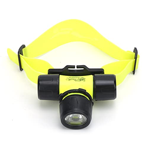 Jopwkuin Linterna Frontal Subacuática, Fácil De Usar Linterna Frontal Que Ahorra Energía, Impermeable con Diadema Ajustable para Andar En Bicicleta para Mochileros
