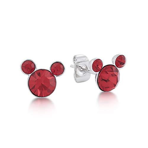 Disney Couture Kingdom - Orecchini a forma di testa di Topolino, con cristalli Swarovski