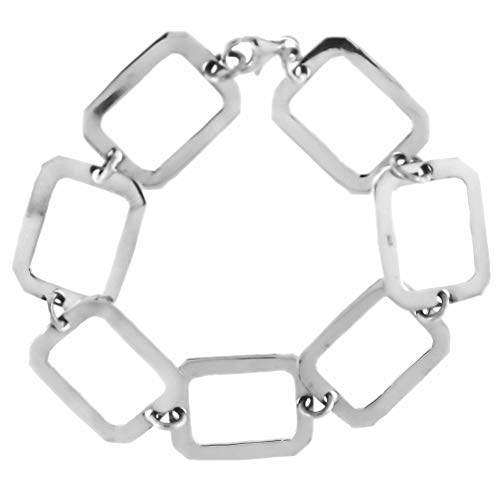 Córdoba Jewels   Pulsera en Plata de ley 925 con diseño Square Silver